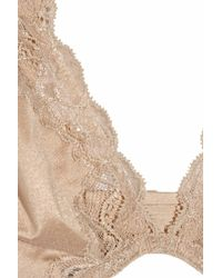 Donna Karan | Natural Luxe Jersey and Lace Plunge Bra | Lyst