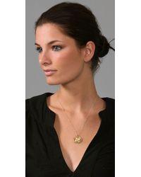 Gorjana - Metallic Circle Diamond Necklace - Lyst