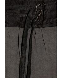 Helmut Lang - Gray Crease-effect Jersey Maxi Skirt - Lyst
