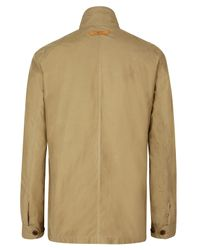 Paul Smith | Natural Biege Waxed Cotton Field Jacket for Men | Lyst