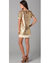 Pencey - Metallic Sequined Shift Dress - Lyst