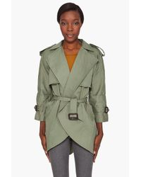 Preen By Thornton Bregazzi | Green Mia Mac Trench Coat | Lyst