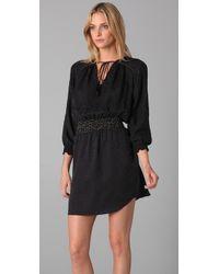 Rebecca Taylor - Black Leopard Jacquard Shirtdress - Lyst