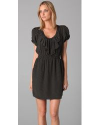 Rebecca Taylor - Black Polka Dot Dress - Lyst