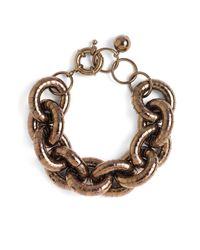 Sequin | Metallic Textured Status Link Bracelet | Lyst