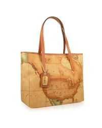 Alviero Martini 1A Classe - Brown 1a Prima Classe - Geo Printed Large Shopping Bag - Lyst
