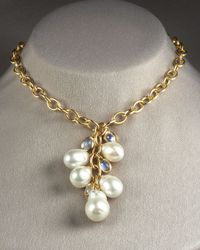 Assael | Metallic Baroque Pearl Necklace | Lyst