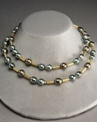 Assael | Metallic Pearl and Gold Strand Necklace | Lyst