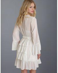 Betsey Johnson | White Chiffon Ruffle Wrap Robe | Lyst