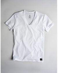 Calvin Klein | White Microfiber V-neck T-shirt for Men | Lyst