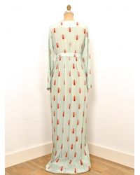 Charlotte Taylor - Blue Maxi Dress With Ants As Seen In Sunday Times Style By - Lyst
