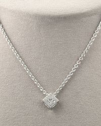 Charriol | White Square Diamond Necklace | Lyst