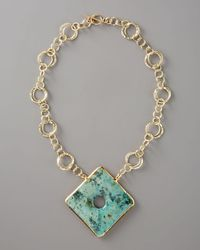 Devon Leigh - Blue Turquoise-pendant Necklace - Lyst