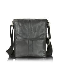 Fossil - Gray Dylan - Small Leather Traveller Bag for Men - Lyst