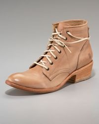 Frye - Brown Carson Lace-up Ankle Boot - Lyst