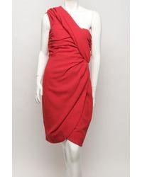Giambattista Valli - Red One-shoulder Bustier Dress - Lyst