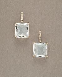 H Stern - White Cobblestone Crystal Quartz Drop Earrings - Lyst