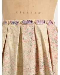 J.W.Anderson - Multicolor Bleached Liberty Print Pleat Skirt By J.w.anderson - Lyst