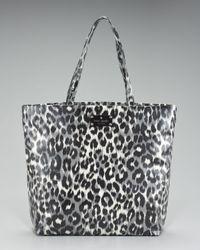 Kate Spade | Black Leopard-printed Bon Shopper | Lyst