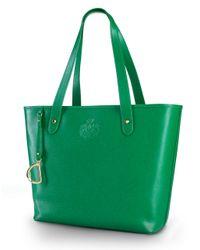 Lauren by Ralph Lauren   Green Newbury Leather Classic Tote Bag   Lyst