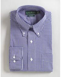 Lauren by Ralph Lauren | Blue Bengal Stripe Spread Collar Slim Button Down Shirt for Men | Lyst