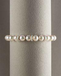 Mikimoto - White Akoya Roundel Bracelet - Lyst