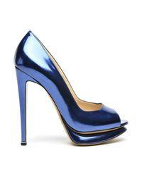 Nicholas Kirkwood | Blue Peep-toe Platform Pump | Lyst