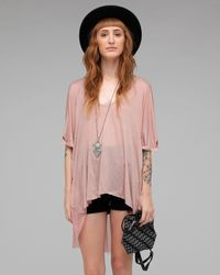 One Teaspoon | Pink Harlow Oversized Top | Lyst