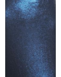 Peter Som - Blue Matte Sequin Gown - Lyst
