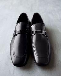 Prada | Black Plaque Loafer for Men | Lyst