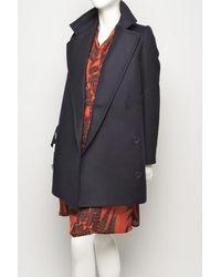 Stella McCartney   Black Edith Oversized Wool Coat   Lyst