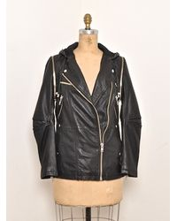 Swagga&soul | Black Edith Long Biker Jacket | Lyst