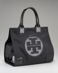 Tory Burch | Black Nylon Ella Tote | Lyst