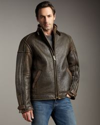 UGG | Brown Refugio Shearling Jacket for Men | Lyst