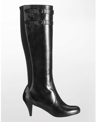 Cole Haan | Black Air Jalisa Leather Tall Boot | Lyst