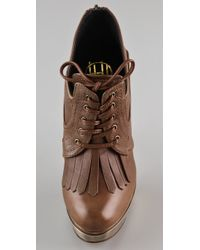 House of Harlow 1960 - Brown Nelly Kilty Platform Booties - Lyst