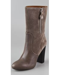 Juicy Couture | Gray Randi Suede High Heel Boots | Lyst