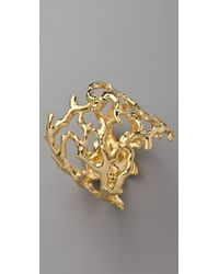 Kenneth Jay Lane | Metallic Sculpted Branch Cuff | Lyst