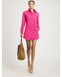 Michael Kors | Pink Cotton Tunic Dress | Lyst