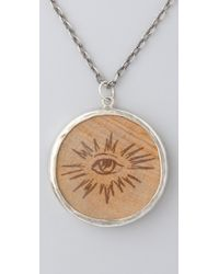 Pamela Love - Metallic Wooden Nickel Pendant Necklace - Lyst