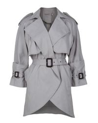 Preen Line   Gray Zoe Mia Mac Trench Coat   Lyst
