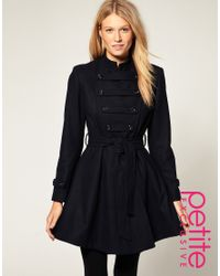ASOS Collection | Blue Asos Petite Exclusive Military Coat | Lyst