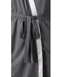 Calvin Klein   Gray Short Robe   Lyst