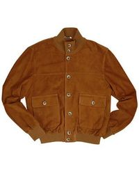 FORZIERI | Mens Brown Italian Suede Two-pocket Jacket for Men | Lyst