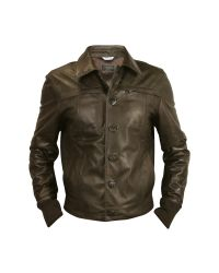 FORZIERI | Mens Dark Brown Leather Jacket for Men | Lyst