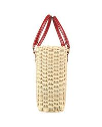 FORZIERI | Natural Capaf Line Wicker and Leather Handbag | Lyst
