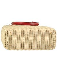 FORZIERI   Natural Capaf Line Wicker and Leather Handbag   Lyst