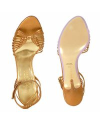 FORZIERI - Copper Metallic Leather Ankle-strap Sandal Shoes - Lyst