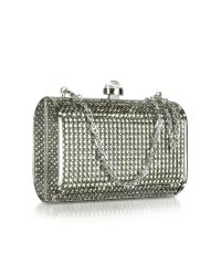 FORZIERI | Metallic Evening Mini Hard Clutch W/Chain Strap | Lyst