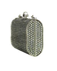 FORZIERI | Metallic Evening Mini Hard Clutch W/Chain Strap | Lyst